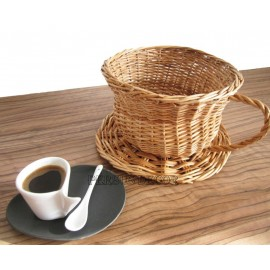 Wicker basket - cup tea