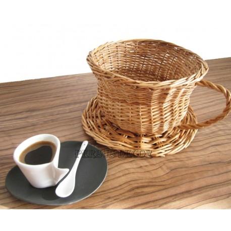 Wicker basket - cup tea