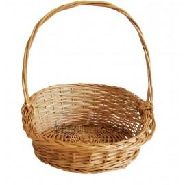 Cos din rachita - rotund asimetric Un cos de rachita pentru cadouri sau prezentare de produse, pentru legume fructe, patiserie,