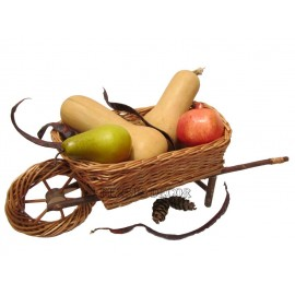 Wicker Basket - Wheelbarrow