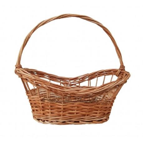 Lace oval wicker basket