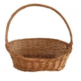 Cos din rachita - oval asimetric Un cos din rachita cu un aspect deosebit ce il recomandam pentru cadouri sau prezentare de pr