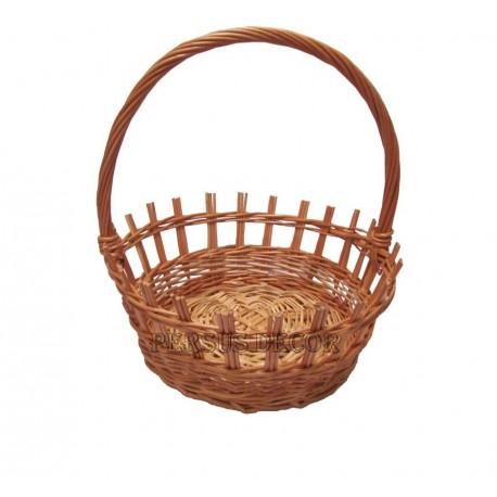 Grate round wicker basket