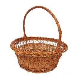Round wicker basket - wrinkled