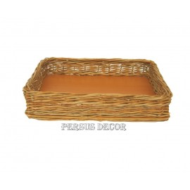 Simple rectangular wicker tray