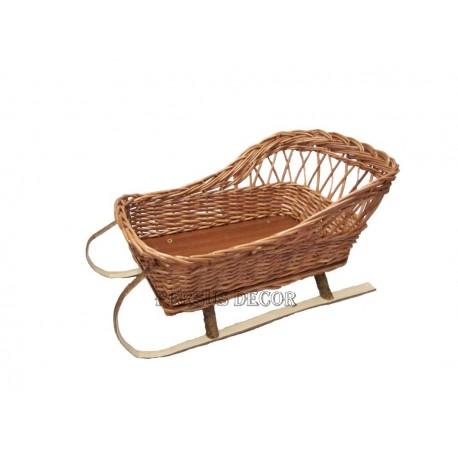 Wicker Basket Sleigh