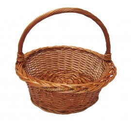 Cos din rachita rotund Un cos de rachita ce poate fi folosit la transportul de produse fragile fructe si legume culese proaspat