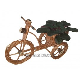 Wicker flower support - tricycle