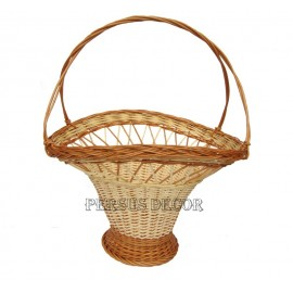 Wicker basket for flowers - large