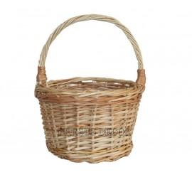 Round wicker basket for children