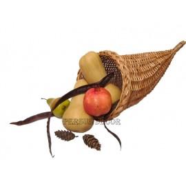 Corn din rachita Cornul din rachita se poate folosi la decoratiuni pentru magazinele de fructe si legume ,ca si cos decorativ pe