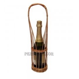 Wicker Basket - support for a bottle