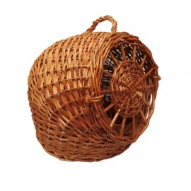 Wicker cage for animal transport