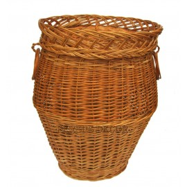 Wicker laundry basket - oval