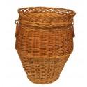 Wicker laundry basket - oval