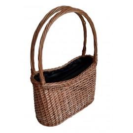Geanta din rachita si piele - neagra O geanta din rachita in combinatie cu piele naturala pentru o femeie noncomformista si care