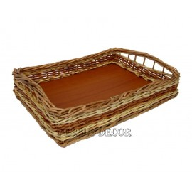 Rectangular tray with handles