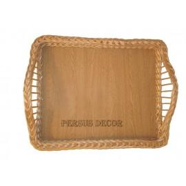Tava rachita - margini decorative Tava din rachita destinata patiseriilor pentru expunere de produse. Se poate folosi ca si tava