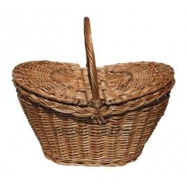 Cos din rachita pentru picnic cu margini inaltate