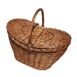 Cos din rachita pentru picnic cu margini inaltate O iesire la iarba verde impreuna cu familia va fi de fiecare data un moment
