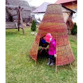 Casuta de gradina tip cort pentru copii Casuta pentru gradina de exterior, model sub forma de cort, ideala pentru jocul copi