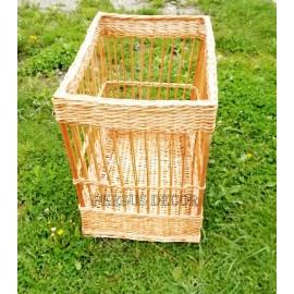 Cos rachita pentru baghete dreptunghiular Cos realizat manual din nuiele 100% naturale pentru depozitarea painii, in special
