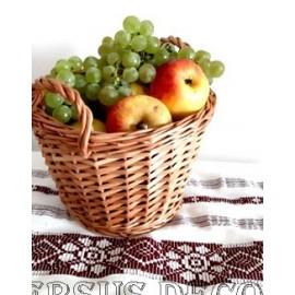 Cos din rachita pentru fructe cu manere