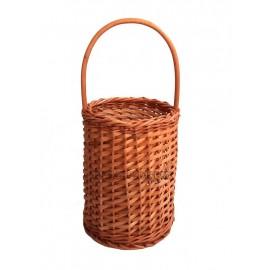 Cos rachita pentru aranjamente tip cofa Cos din rachita inalt cu toarta perfect pentru realizarea de decoratiuni cu flori usc