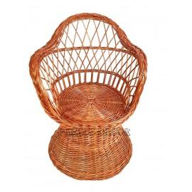Set mobilier din rachita rotund Set mobilier din rachita format din masa cu blat de lemn si patru scaune, ce va infrumuseta o